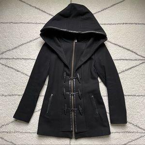 Mackage STEFFY Black Wool Toggle Coat, size XS